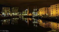Albert Docks Liverpool (BIG KARL YATES) Tags: ship city skyline reflectionnight water docks liverpool stunning boats night long exposure