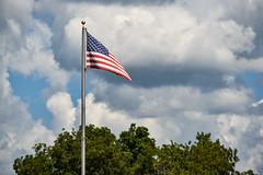 Flag Over Star, NC (No Talent Bum) Tags: starsandstripes americanflag redwhiteandblue clouds stormclouds star starnc nikon northcarolina nc nikond5300 nikonafs55300mmf4556gedvr montgomerycounty montgomerycountync flags