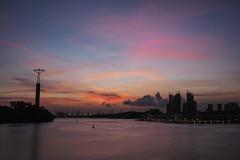 Colors of the Sky (elenaleong) Tags: sundown dusk twilight colorsofthesky seaport cablecar singapore elenaleong