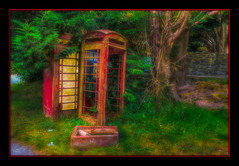Hello!!! (Kevin From Manchester) Tags: architecture beautiful building canon1100d canon1855mm church denbighshire hdr historical kevinwalker llangollen vallecrucisabbey wales telephone phonebox