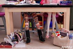 Back 2 School: A Lizzy 'n' Hermione Short 4 (APPark) Tags: dolls dioramas 16scale school momokos lacymodernist preppygirl books classroom