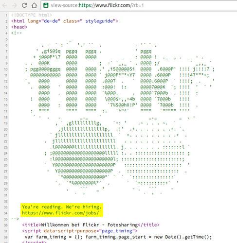 """Originelle Stellenanzeige bei flickr - im HTML-Quelltext der Startseite • <a style=""""font-size:0.8em;"""" href=""""http://www.flickr.com/photos/77921292@N07/29289002673/"""" target=""""_blank"""">View on Flickr</a>"""