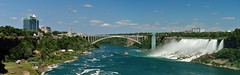 Rainbow Bridge and American Falls (J-Fish) Tags: rainbowbridge americanfalls bridalveilfalls niagarafalls niagarariver bridge sheraton river newyork ontario canada d300s 1685mmvr 1685mmf3556gvr