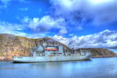 USNS Robert E. Peary Almost Gone (Ross A Craig) Tags: stjohnsnewfoundland canadian navy united states hmcs fredericton athabaskan signal hill