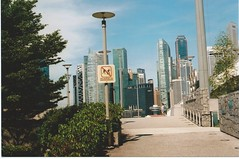 Singapore, Skyline from just north of Helix Bridge from m. muraskin-singapore (m. muraskin) Tags: singapore skyline marinabay