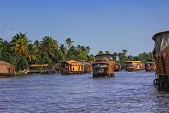 Houseboat traffic! (Sudhakar Madala) Tags: nature houseboat water river blue green traffic boat september canon eos clearsky bestshot cruising tree
