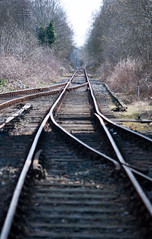 The points are against us. (pinkbuildingphotography) Tags: railway the way ahead