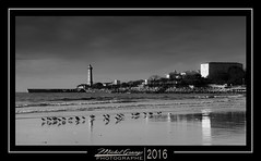 Saint Georges de Didonne Pier (mg photographe) Tags: port pier bidonne charente ocean monochrome phare france sea mer vague mouette oiseaux
