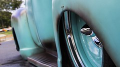 On Air (GTRacer22) Tags: chevy c100 chevrolet blue antique petina rust vintage classic modified low slammed pickup truck chrome shiny