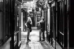 Street Smokers (James Hodgson Photography) Tags: street photography smoker smoking 85mm 18 bokeh canon prime night dark laine north lane monochrome