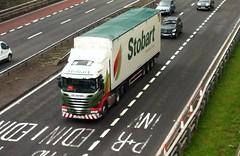 H8387 - PX64 TWU (Cammies Transport Photography) Tags: truck energy paige lorry eddie flyover bethanie twu scania renewable esl a90 inverkeithing hillfield stobart eddiestobart r450 h8387 px64twu px64