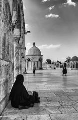 Two worlds collide at Temple Mount (donaldjenkins) Tags: bw israel jerusalem
