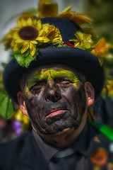 'Jack in the Green' May Day Celebrations, Hastings,  May 2014 (vic_burton) Tags: party summer people green leaves festival jack costume spring faces hastings accordian facepaint mayday fancydress eastsussex greenman morrisdancer jackinthegreen celeration vickiburton vicbuton