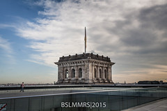 Roof with a view (Bas Lammers) Tags: city roof berlin history glass germany mirrors reichstag dome citycenter