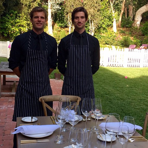 Our handsome servers last night were in the hills for a fun dinner party! #servers #staffing #events #eventlife #models #dinnerparty #TheFoodMatters #stripes #wine #amazingfood #200ProofLA #200Proof