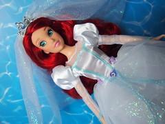 Disney Parks Wedding Ariel (sh0pi) Tags: wedding ariel doll die dress little parks disney gown mermaid hochzeit petite disneystore puppe arielle kleine the sirene meerjungfrau deboxed