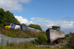 Carron Harbour, 2010 (Taysider64) Tags: train coast boat fife fishingboat railways dereliction hst highspeedtrain carronharbour