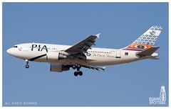 Pakistan International Airlines Airbus 310-324 AP-BGS (Ni5han7) Tags: dubai uae pia 2010 dxb dubaiinternational pakistaninternationalairlines airbusindustrie a310324 ziarat apbgs dubaispotters