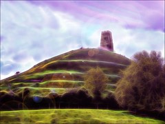 Glastonbury Myth and Mysticism (jo92photos) Tags: photoshop edited creative glastonbury folklore somerset watercolour legend myth mysticism leylines chalicewellgarden isleofavalon isleofglass fractalius