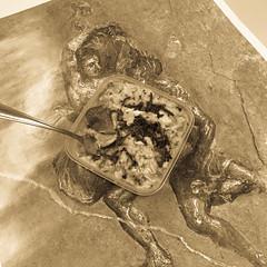 Leftover chicken giblet congee (garydlum) Tags: chicken rice au australia quinoa phillip congee australiancapitalterritory