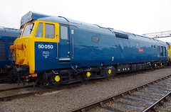 """50050 (D400) """"Fearless"""" - St Phillips Marsh Open Day - 02-05-16 (techno-phobe) Tags: hoover fearless class50 d400 50050 stphillipsmarshopenday020516 40yearsofthehst"""