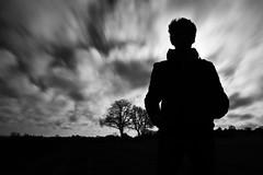 My dark side ;) (VB32photo) Tags: sky blackandwhite white black tree backlight clouds dark long exposure side selfie vb31photo vb32photo