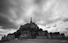 Le Mont (SoniaPerea) Tags: longexposure sky blackandwhite bw clouds medieval cielo nubes castillo saintmichel largaexposicin