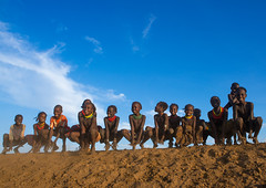 Dassanech tribe children dancing and jumping, Omo valley, Omorate, Ethiopia (Eric Lafforgue) Tags: africa travel girls people haircut color boys smile smiling horizontal fun outdoors happy photography jumping sand dancing african joy happiness tribal line omovalley ethiopia cheerful tribe ethnic hairstyle groupofpeople developingcountry ethnicity hornofafrica ethiopian eastafrica toothysmile abyssinia fulllenght traveldestination omorate africanethnicity indigenousculture geleb ethnicgroup dassanech southethiopia dassanetch daasanach dasaanech daasanech dassanach omoratte ethio161956