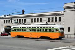 Muni F Line #1080 (Jim Strain) Tags: jmstrain sanfrancisco pcc muni embarcadero trolley tram streetcar lightrail transit california