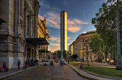 Pirellone (Fil.ippo) Tags: sunset panorama milan skyscraper tramonto cityscape milano hdr filippo pirellone grattacielopirelli pirellitower d7000 filippobianchi