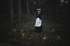 La virgulino en arbaro (TAKAGI.yukimasa1) Tags: portrait people woman cute girl beauty forest canon eos japanese fineart mysterious maid asiangirl 5dsr