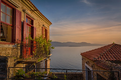 Molyvos (dgiannis89) Tags: old sunset sea sun classic vintage landscape island greece lesvos molyvos mytilene