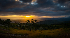 Golden rays through a gloomy day (lynamPics) Tags: sunrise landscape fuji australia townsville mtstuart fujix100t