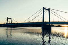 (DrowsyPotato) Tags: bridge sunset reflection water 35mm sweden mark f14 sony sunsets ii sverige fe tones za jmtland norrland solnedgng a7r 80 a7rii a7r2