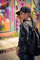(Giuseppe Orr) Tags: street art hat fashion 50mm graffiti blog gemma skate skateboard turin cheapischic