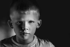 7 going on 17 (Kapuschinsky) Tags: portrait blackandwhite monochrome moody child minolta naturallight portraiture emotive bnw sidelight hardlight dramaticlight sonyalpha sonya700 hardligt