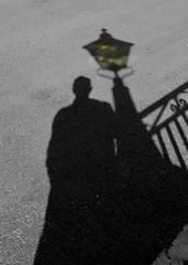 The Shadow and the Lamp Burner (Padski1945) Tags: shadow blackandwhite monochrome mono shadows shadowplay thelampburner
