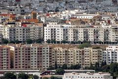 Chellal Buildings (Yassine Abbadi) Tags: road bridge sea sky cloud mountain beach grass plane sunrise buildings spring hill mosque morocco maroc hdr tetuan tetouan martil bouanane