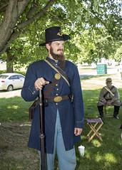 Union Army (will139) Tags: people events indianapolisindiana civilwarreenactment unionarmy crownhillcemetery unionofficer