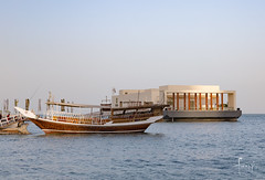 Doha, Qatar (Foraggio Photographic) Tags: travel building lines architecture boat perspective sydney structure doha qatar dhow westbay westbaydoha
