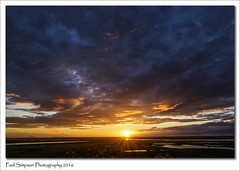 July Sunset (Paul Simpson Photography) Tags: sunset sun nature water clouds river yorkshire sunny lincolnshire summertime naturalworld rivertrent riverouse northlincolnshire photosof imageof photoof imagesof sonya77 paulsimpsonphotography july2016