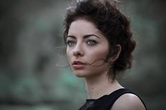 Black chaos (la_cla25) Tags: portrait black beautiful beauty model eyes wind bokeh lips occhi ritratto vento labbra modella