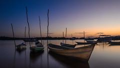 Early (morel_sergio) Tags: sunrise colors boats longexposure nikond7000 brazil alterdochao para moment composition blue orange red
