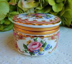 Vintage Royal Albert Porcelain Trinket Box Lady Carlyle Pink Rose Gold (Donna's Collectables) Tags: vintage royal albert porcelain trinket box lady carlyle pink rose gold