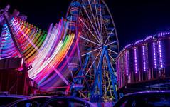 rainbow lights (severalsnakes) Tags: ferriswheel ks2 missouri pentax saraspaedy sedalia statefair tamron287528xrdi fair longexposure sirui t025x tripod