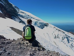 Garrett at top of Eliot Glacier (mmcg6302) Tags: mount hood oregon cooper spur hiking