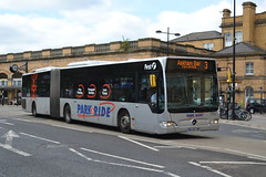 First Mercedes 11112 BG58OMH - York (dwb transport photos) Tags: first mercedesbenz citaro bendy articulated bus parkride 11112 bg58omh york