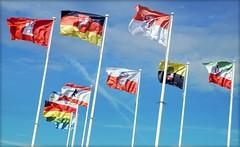 fluttering.flags #001 (C.Kalk DigitaLPhotoS) Tags: flaggen flags wind windig windy rot red black schwarz gelb yellow grn green weis white