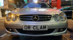 Dr. Clam (cowyeow) Tags: china street city urban car sign word asian hongkong mercedes funny asia dumb parking clam licenseplate stupid seafood parked wtf expensive 香港 clams causewaybay stinky funnysign gynecologist funnychina funnyhongkong