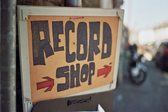 Record Shop (Walt Jabsco) Tags: sign pentax kodak cardiff font pentaxk1000 roath therecordshop kodakcolourplus